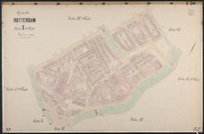 40110-Z2 Kadastrale kaart van Rotterdam, sectie X, 2e blad: omgeving Hofdijk en Noordplein. Het gebied wordt begrensd ...
