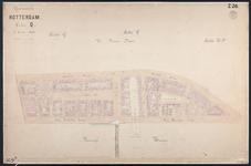40110-Z26 Kadastrale kaart van Rotterdam, sectie Q, 2e blad: het oostelijke deel van het Noordereiland. Het gebied ...