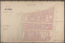 40110-Z4 Kadastrale kaart van Rotterdam, sectie T in een blad: het noordelijke deel van Cool. Het gebied wordt begrend ...