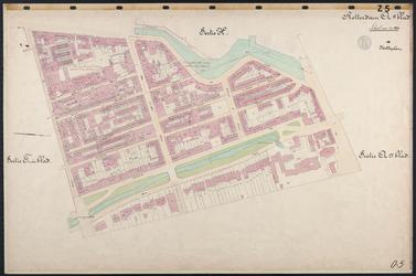40110-Z5 Kadastrale kaart van Rotterdam, sectie Q, 2e blad: het zuidelijke deel van Cool. Het gebied wordt begrensd ...