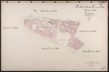 40110-Z7 Kadastrale kaart van Rotterdam, sectie J in een blad: het noordwestelijke deel van de stadsdriehoek. Het ...