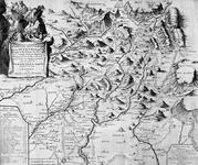 BP-230 Kaart van de Sevennes en omgeving en de belangrijkste wegen in dat gebied