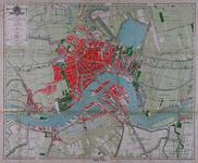 I-117 Kaart van Rotterdam met aanduiding van de geprojecteerde Maashaven en de eveneens geprojecteerde spoorlijn rond ...