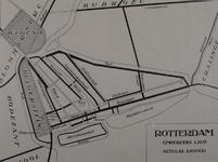 I-12 Reconstructiekaart van Rotterdam omstreeks 1360.