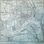 I-142 Plattegrond van Rotterdam met indeling in 25 wijken
