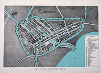 I-16-D Plattegrond van Rotterdam omstreeks 1558