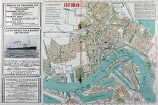 I-164-01 Plattegrond van Rotterdam. Het afgebeelde gebied wordt begrensd door een deel van de Waalhaven, Delfshaven, de ...