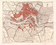 I-167 Plattegrond van Rotterdam. Het afgebeelde gebied wordt begrensd door de Waalhaven, de Ceintuurbaan (spoorweg ten ...