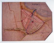 I-17-1 Reproductie van het gedeelte van een kaart betreffende de visserij op de Rotte waarop Rotterdam is afgebeeld.