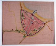 I-17-2 Reproductie van het gedeelte van een kaart betreffende de visserij op de Rotte waarop Rotterdam is afgebeeld.