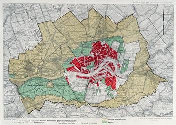 I-189-01 Kaart van Rotterdam en omgeving met een voorstel voor gebiedsuitbreiding van Rotterdam