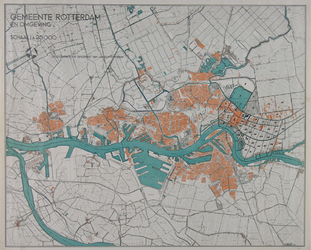 I-209-06-1 Kaart van Rotterdam en omgeving met aanduiding van (kadastrale?) secties in Kralingen