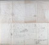 I-210-03 Plattegrond van het centrum van Rotterdam waarop de mogelijke vindplaatsen van oude fundamenten staan aangegeven