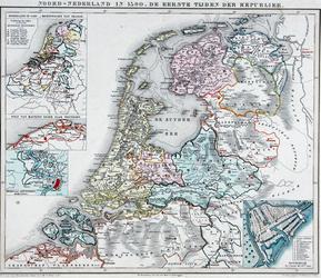 I-22 Inzetkaartje op de kaart Noord-Nederland in 1590 [...]: de `stadsdriehoek' in wording.