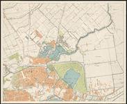 I-223-2 Plattegrond van Rotterdam en omgeving in 4 bladen. Blad 2: een deel van Rotterdam-West, het (gebombardeerde) ...