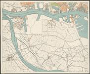 I-223-3 Plattegrond van Rotterdam en omgeving in 4 bladen. Blad 3: Spijkenisse en Pernis en deel van Rotterdam-West en ...