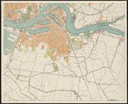 I-223-4 Plattegrond van Rotterdam en omgeving in 4 bladen. Blad 4: Rotterdam-Zuid en een deel van Rotterdam-West.