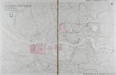 I-238 Kaart van Rotterdam en omgeving met aanduiding van industriegebieden in de Spaanse Polder, op de Vondelingenplaat ...