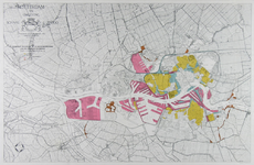 I-243 Kaart van Rotterdam en omgeving met aanduiding van diverse bouwzones