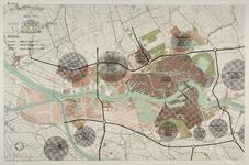 I-252B Plattegrond van Rotterdam en omgeving waarop de ligging van de tramtunnel, de Rotterdamse Ruit en het ...
