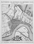 I-52-01 Kaart van Rotterdam en omstreken. Het afgebeelde gebied, de gemeente Rotterdam, wordt begrensd door grondgebied ...