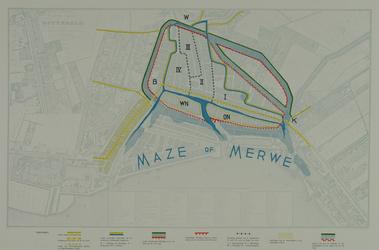 I-53 Kaart van Rotterdam waarop de oude stadsmuren zijn ingetekend