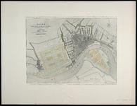 I-61 Kaart van Rotterdam in 1858, behorende bij het plan tot aanleg van nieuwe straten in de polders Cool en Feijenoord ...