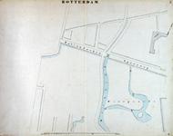 I-69-A Kaart van Rotterdam in 14 bladen (A t/m I, K t/m O) waarop het net van rioleringsbuizen en waterleidingen is ...