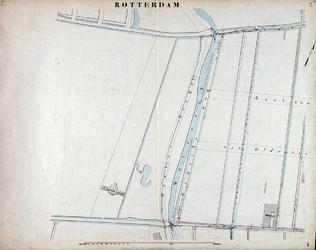 I-69-B Kaart van Rotterdam in 14 bladen (A t/m I, K t/m O) waarop het net van rioleringsbuizen en waterleidingen is ...