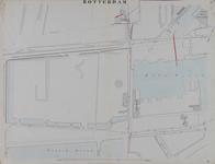 I-69-D Kaart van Rotterdam in 14 bladen (A t/m I, K t/m O) waarop het net van rioleringsbuizen en waterleidingen is ...