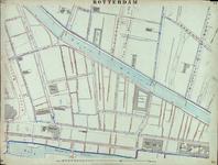 I-69-K Kaart van Rotterdam in 14 bladen (A t/m I, K t/m O) waarop het net van rioleringsbuizen en waterleidingen is ...