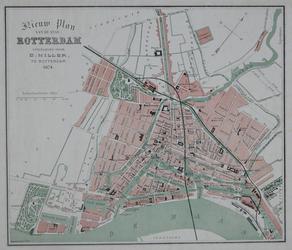 I-73 Plattegrond van Rotterdam. Het weergegeven stadsgebied wordt begrensd door het Park, de Drievriendenstraat (Oude ...
