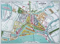 I-75-2 Plattegrond van Rotterdam. Het weergegeven stadsgebied wordt begrensd door het Park, de Diergaarde, de ...