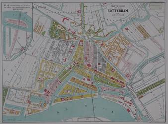 I-76 Plattegrond van Rotterdam. Het weergegeven stadsgebied wordt begrensd door het Park, het Oude Westen, de ...