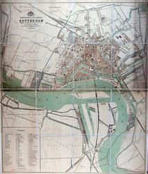 I-81-01-2 Plattegrond van Rotterdam vervaardigd na uitbreiding aan den linker oever der Maas.