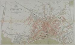 I-90-01A Plattegrond van Rotterdam met daarop aangetekend het telefoonnetwerkvan 1885. Blad 1: Rechter Maasoever
