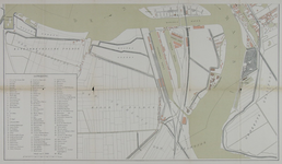 I-90-01B Plattegrond van Rotterdam met daarop aangetekend het telefoonnetwerk van 1885. Blad 2: Linker Maasoever