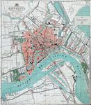 I-94 Plattegrond van Rotterdam met daarop ingetekend het telefoonnet.