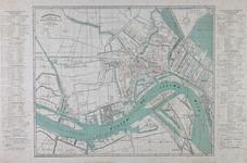 I-98 Kaart van Rotterdam met vermelding van de bewaarscholen en de scholen voor lager, middelbaar en hoger onderwijs