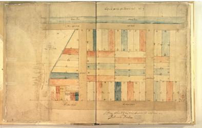 II-10-3 Plattegrond van de Blaeuwe Toren en omgeving