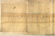 II-10-5 Plattegrond van uitgegeven percelen gelegen aan de noordzijde van de Blaak