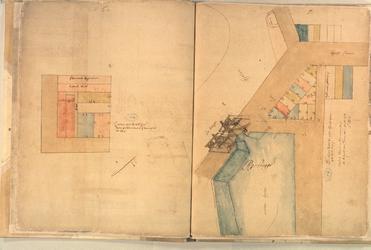 II-10-6C Plattegrond van percelen bij het kerkhof waar Pieter Ariensz Tromper is begraven