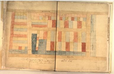 II-10-9 Plattegrond van percelen op het voormalige Prinsenhof