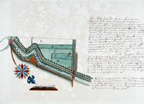 II-100 Kaart van landerijen in Cool, gelegen tussen stadsvest, Binnenweg en een sloot ongeveer ter plaatse van de ...