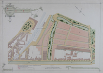 II-101 Plattegrond van bouwkavels in een gedeelte van de Provenierswijk, gelegen tussen de Schiekade, Walenburgerweg en ...
