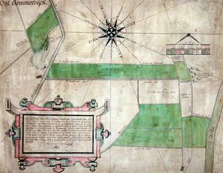 II-103 Kaart van landerijen van wijlen Pieter Arents soon van Walenborch, oud-burgemeester van Rotterdam, gelegen aan ...