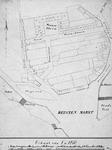 II-104 Plattegrond van de raamgronden tussen de Raampoortlaan en het Strooveer, de Katshoek en de Hofdijk