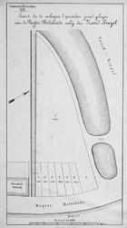 II-106 Kaart van 7 grondpercelen aan de Rechter Rottekade bij de Noordsingel