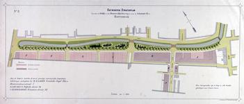II-108 Plattegrond van een gedeelte van de Agniesebuurt, gelegen tussen de Bergweg en de Hofdijk