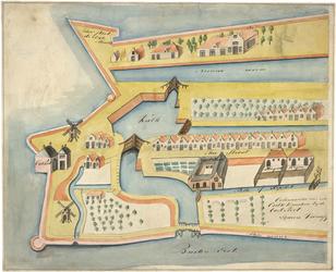 II-11-1 Kopie van een plattegrondtekening van het oostelijke deel van de stadsdriehoek